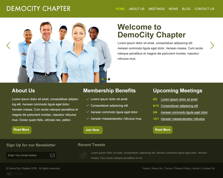 Customize Layout 2 to suit your organization's colors and identity.