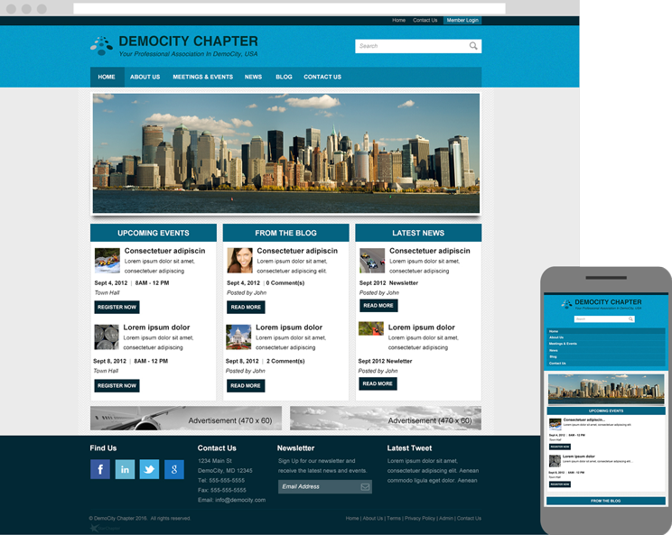Layout 5 is responsive and looks great on any decive.