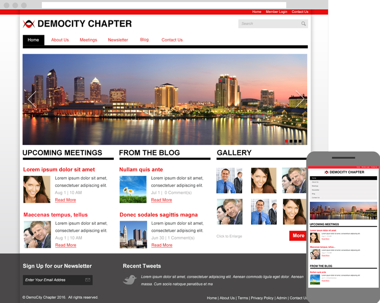 Layout 10 is responsive and looks great on any decive.